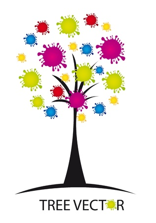 colorful conceptual tree over white background. vector illustration Stock Vector - 11516547
