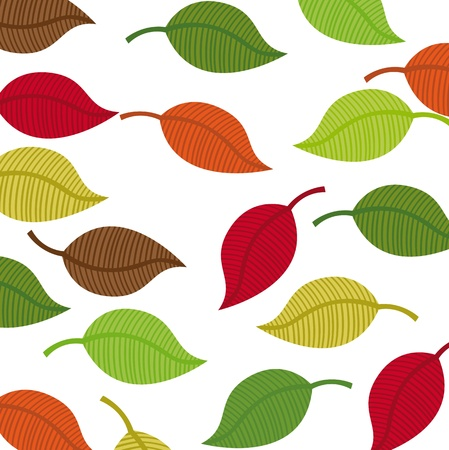 warm colors leaves autumn vector background. illustration Stock Vector - 11516581