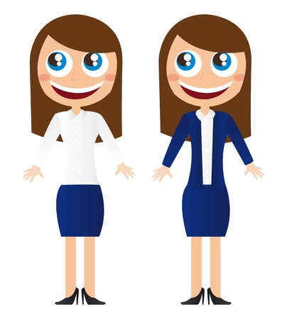 business woman cartoon over white background vector