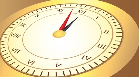 numeros romanos: oro, reloj con n�meros romanos en vector de fondo de color marr�n