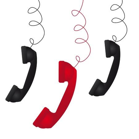 drie telefoonnummers op een witte achtergrond vector illustratie
