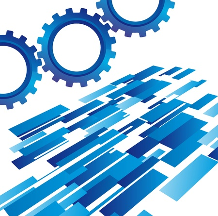 gearshift: blue gears with abstract background vector illustration Illustration