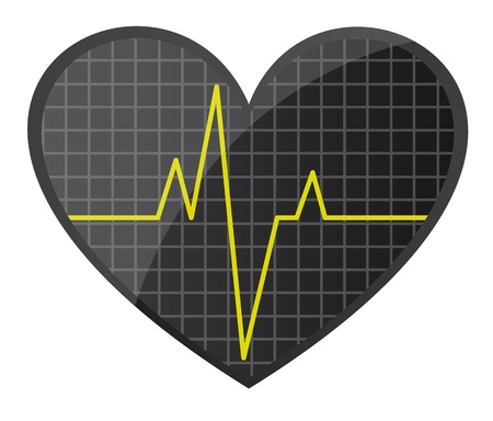 heart rate: red heart rate isolated over white background. vector illustration