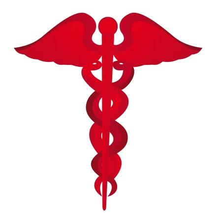 medical symbol: s�mbolo rojo m�dica aisladas sobre fondo blanco. ilustraci�n vectorial Vectores