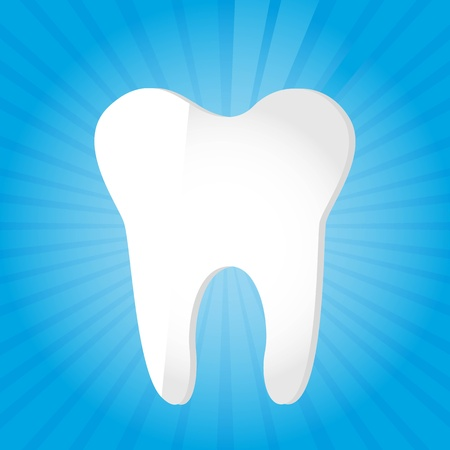white tooth over blue background. vector illustration Stock Vector - 11657340