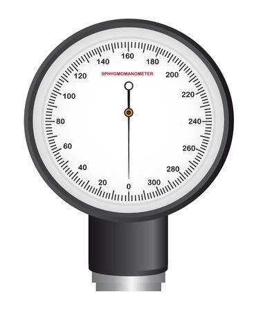 sphygmomanometer isolated over white background. illustration Stock Vector - 11886184