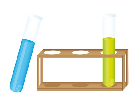 test tube with container over white background illustration Stock Vector - 11886155