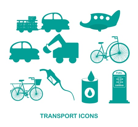 transport icons over white background vector illutration Vector