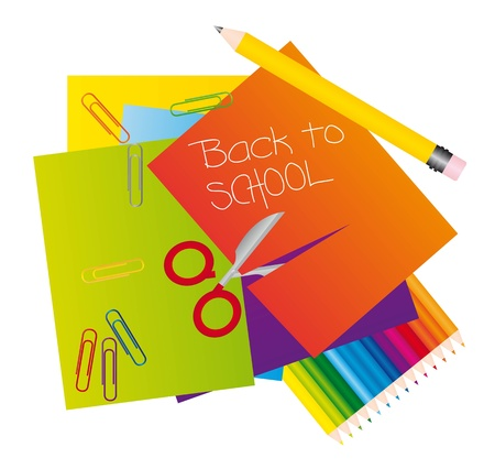Different materials to return to school. vector illustrator Stock Vector - 11980334