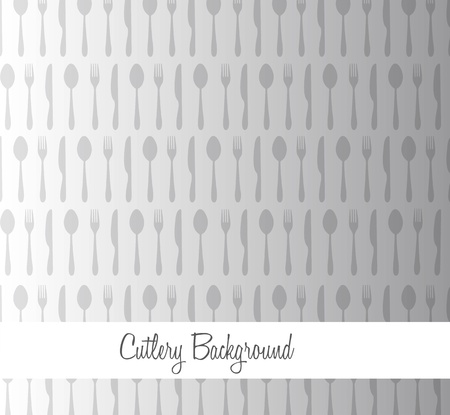 Gray cutlery background. vector illustrator Stock Vector - 11980339