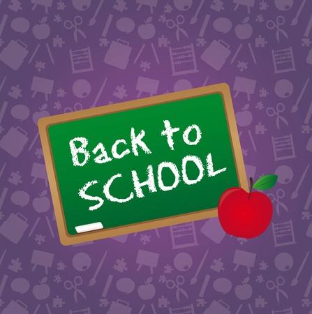 Chalkboard over purple background.vector illustrator Stock Vector - 11986428