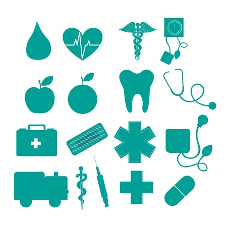 medical icons isolated over white background. vector illustration Vector