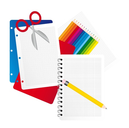 office elements isolated over white background. vector illustration Stock Vector - 11980314