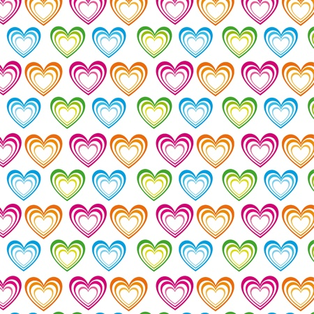 Colors heart illustration on white background, image Stock Vector - 12102480