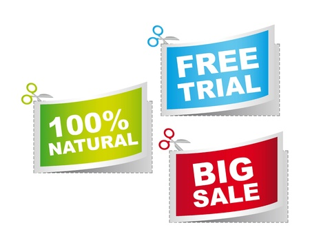 natural, big sale and free trail, illustration Stock Vector - 12102430
