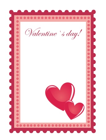 Valentines day stamp with space to insert text or design Vector