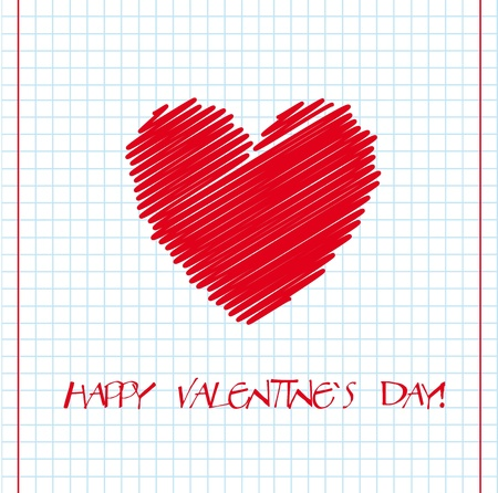 Striped heart with happy valentines day message Vector