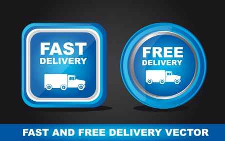 Fast and free delivery icons, Illustration Vector