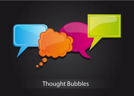 blu: Blu, orange and green bubbles, Illustration