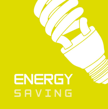 bulb electric over green background, energy saving. Stock Vector - 12492288