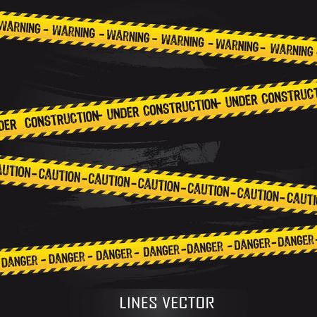 cintas: l�neas amarillas sobre fondo negro. ilustraci�n