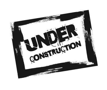 black under construction stamp isolated over white background.  Stock Vector - 12493233