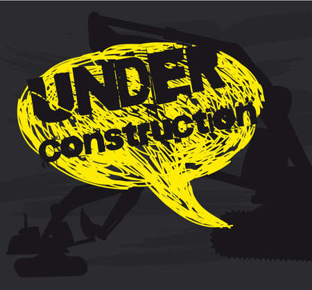 under construction text over thought bubble.illustration Stock Vector - 12495936
