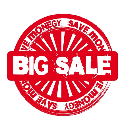 red big sale stamp isolated over white background. Vector