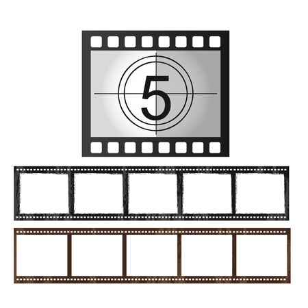 movie film: movie tape isolated over white background. vector