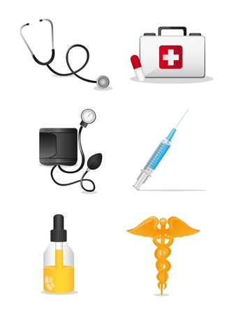 medical icons over white background. vector illustration Stock Vector - 12814112