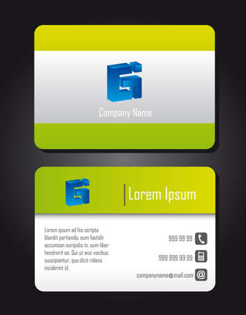 presentation card isolated over black background. vector Stock Vector - 12814098