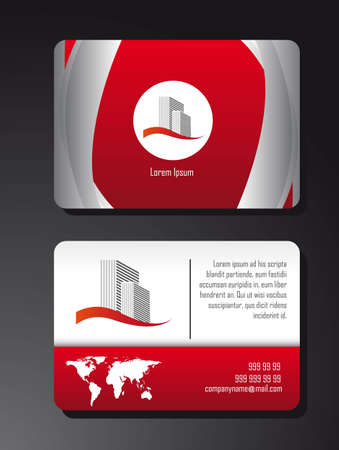 red presentation card over black background. vector Stock Vector - 12814103