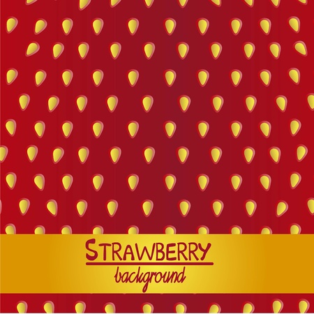detail of the texture of the strawberry, vector illustration  Vector
