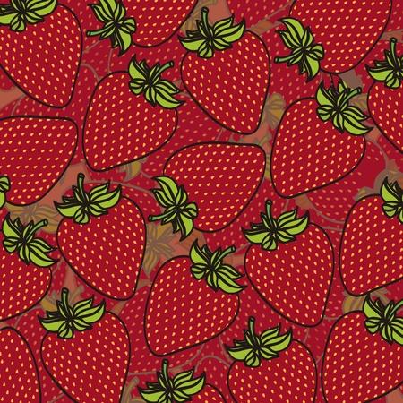 fraises dessin animé regroupés sur l'autre dans des couches différentes, fond