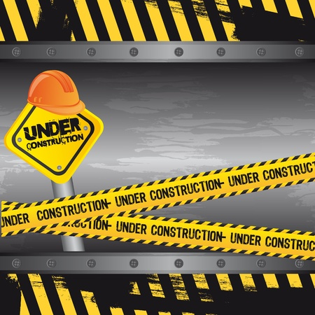 under construction background, road sign. Stock Vector - 12948295