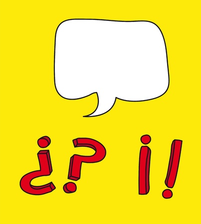 exclamatory: question and exclamation mark drawing.