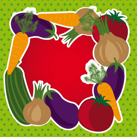vegetables with space for copy background. Stock Vector - 12948293
