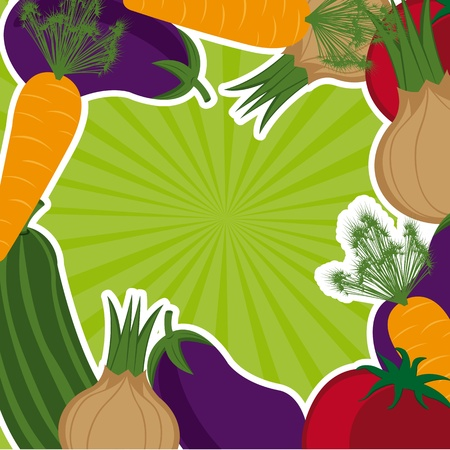 vegetables with space for copy background. Stock Vector - 12948289