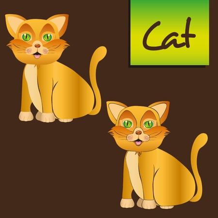 whisker characters: gato amarillo de estar con las l�neas y debe de existir, ilustraci�n vectorial Vectores