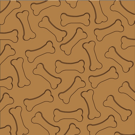 pattern kibble dog silhouettes, isolated on brown background