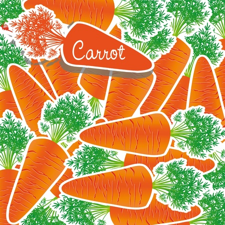 background of many carrots piled on each other Stock Vector - 13035510