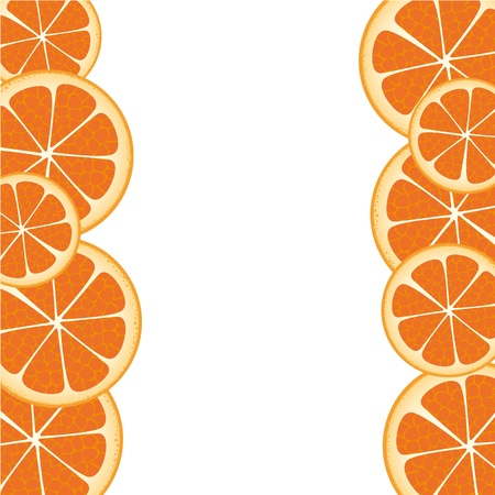 orange slices frame accommodated on each other Stock Vector - 13035438