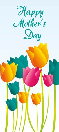 card flowers for mothers day, vector illustration Stock Vector - 13142121