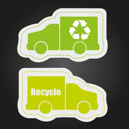 recycling stickers, isolated on white background Vector