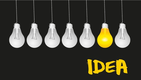 bulb idea: idea background