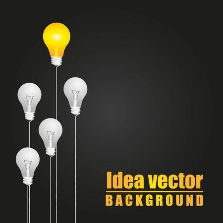 lightbulb idea: idea di fondo Vettoriali