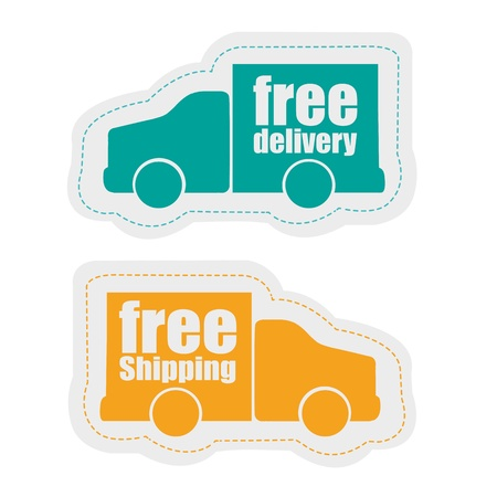 delivery stickers, isolated on white background Vector
