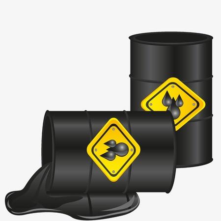 toxic barrels: de galones de petr�leo aisladas sobre fondo blanco