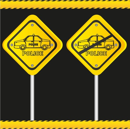 traffic sign isolated on black background Stock Vector - 13308273