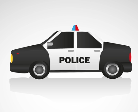 patrol: police car isolated on white background
